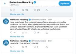 Un dato sobre un potencial ataque extranjero fue el mensaje más grave de los difundidos (captura twitter)