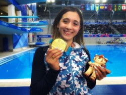 Delfina Pignatiello, triple medalla dorada en los Panamericanos: