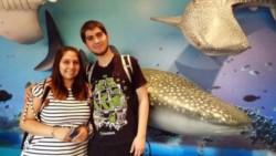 Micaela Duran y Alejandro Ybañez, los afortunados padres de las trillizas gemelas.