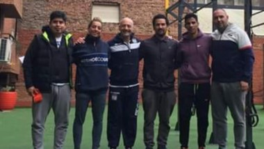 Mauro Moraga, Evangelina Thomas, Ruperto Ruiz y Mariano Ferro, se capacitaron con Mario Di Santo.