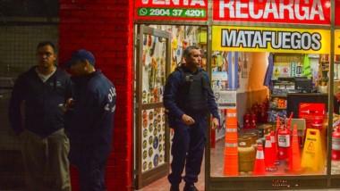 El asalto se produjo en la noche de ayer en un local de matafuegos.