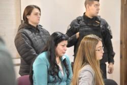 Claudia Concha Ávila (centro) fue condenada a prisión perpetua.