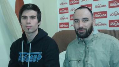 Adon Oliver y Maximiliano Rivas durante su visita a Diario Jornada.