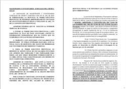 No pasarán. En una mañana muy agitada en Chubut, los Magistrados cumplieron con su anuncio y acudieron a Fiscalía para su reclamo formal.