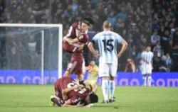 Borré (2), Suárez, Nacho Fernández, De La Cruz y Scocco los autores de los goles.