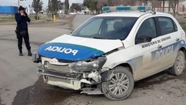 Choque. El accidente vial sucedió en la tarde de ayer en la intersección de la avenida 20 de Junio con 9 de Julio.