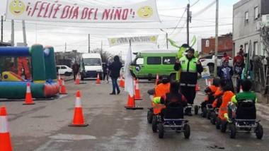 La Agencia Provincial de Seguridad Vial (APVS), celebró el Día del Niño en la ciudad de Rawson.