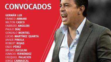 River dio sus convocados para el cruce con Cerro Porteño.