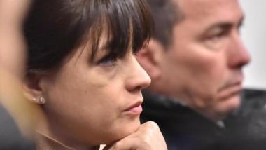 Natalia Mac Leod y Diego Correa, durante el juicio este martes.