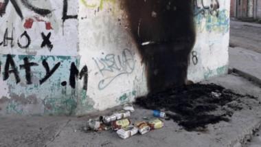 Más control. La casa de Donato Fernández quemada . El vecino hizo pública la situación vivida en ese sector.