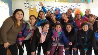Calafate y el hockey barrial se unieron para celebrar el día del niño en Comodoro Rivadavia.