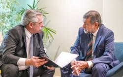 Alberto Fernández se reunió con el senador Carlos Caserio para coordinar actividades en Córdoba.