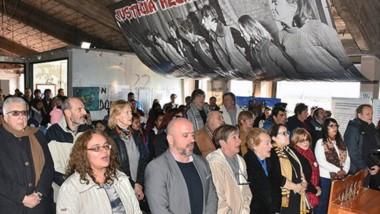 El homenaje, en el Centro Cultural de la Memoria, a 47 años de la Masacre de Trelew.