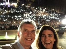 Entre lágrimas y voz quebrada Macri agradeció masivo apoyo.