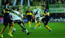 Antes del minuto, Franco Soldano metió su primer gol con la camiseta del Xeneize.