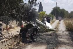 Los restos de ambos aparatos cayeron en unas fincas rurales en Mallorca.