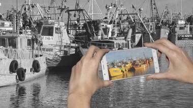 La imágenes deben mostrar la actividad en los puertos de la provincia.
