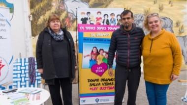 El stand informativo que tiene como objetivo informar y concientizar sobre la donación de órganos.