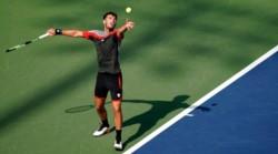 Marco Trungelliti se retiró en el segundo set de su partido ante el japonés Kei Nishikori.
