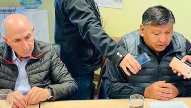 Ávila y Llugdar brindaron una conferencia de prensa para explicar los alcances de la movilización de hoy.