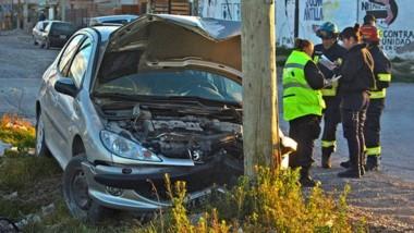 El vehículo peugeot 206 y su accidente en Musters y López y Planes.