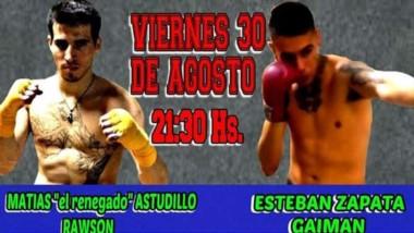 Astudillo y Zapata protagonizarán la pelea principal esta noche.