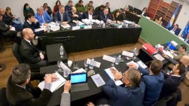 Declarando. Ayer fue el turno de declarar para el ministro de Gobierno, Federico Massoni.