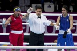 Dayana Sánchez no pudo emular a su hermana campeona de boxeo, pero fue medalla plateada.