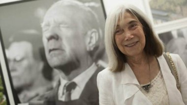 María Kodama visitó  Trelew y  recordó la anécdota del dinosaurio.