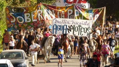 En 2017 hubo movilizaciones para que no se haga un loteo en la zona de Mallín Ahogado.