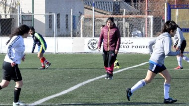Belgrano de Esquel comenzó con las prácticas del fútbol femenino.