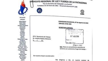 Aviso. Luz y Fuerza cumplió con los procedimientos y notificó al área laboral provincial sobre la medida.