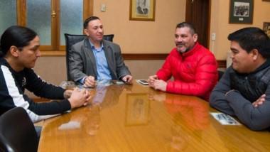 Adrián Maderna recibió ayer a Fernando Ortega, del Club Atlas.