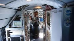 Interior del GULFSTREAM G550 que se usará para realizar las mediciones. Foto: gentileza investigadores.