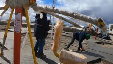 Una de las obras que se llevaron a cabo en la ciudad durante la gestión del intendente Sastre.