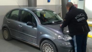 El automóvil Citröen fue incautado en la mañana de ayer en Madryn.