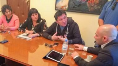Ayer Edgardo Hompanera encabezó la reunión de auxiliares con Massoni para buscar una solución.
