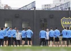 Con el regreso de los futbolistas convocados a la fecha FIFA, el plantel entrenó en el Complejo Pedro Pompillo.