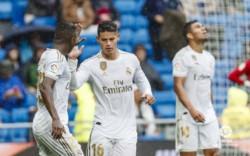 Victoria ajustada del Real Madrid 3 - 2 ante el Levante. Con un estelar James Rodríguez ya ganándose su titularidad.