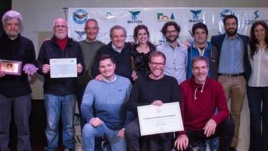 Premiados. Protagonistas de la ceremonia de clausura del MAFICI 2019. El Premio a la trayectoria fue para Juan Bautista Stagnaro.