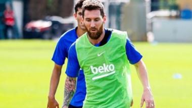 La Pulga completó el domingo toda la sesión con el grupo. Cada vez falta menos para que el mejor futbolista del mundo vuelva a competir.