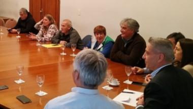 Cumbre. La cúpula del Gobierno se reunió con referentes de la fracción de ATE que responden a Quiroga.