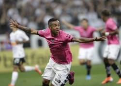 Así celebró el panameño Gabriel Torres el 1-0 de Independiente del Valle contra Corinthians.