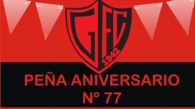 El club valletano organizó una peña para celebrar su cumpleaños 77.