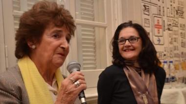 Cecilia Glanzmann y Marina Rivera durante el encuentro en el MMAV.