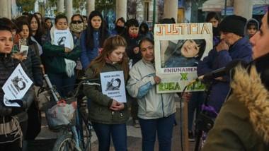 La marcha tuvo su concentraciòn en el Pasaje Gazzin y de allí hasta el edificio de los Tribunales de Trelew.