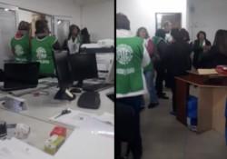 Apriete. Las cámaras de seguridad de la Secretaría de Trabajo donde están los sindicalistas de ATE.