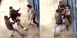 Los cobardes sujetos no tuvieron piedad con la joven que solo pudo resistir los golpes de puño y patadas.