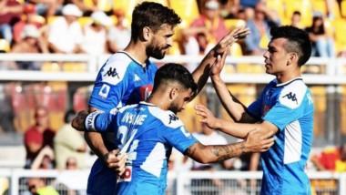 Nápoli se impuso en su visita al Lecce y escaló a la tercera posición de la tabla en la Serie A.