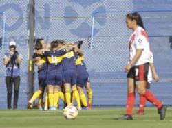 En la fila de abajo, Florencia Fernández (la cuarta de izquierda a derecha), fue titular en La Bombonera.
